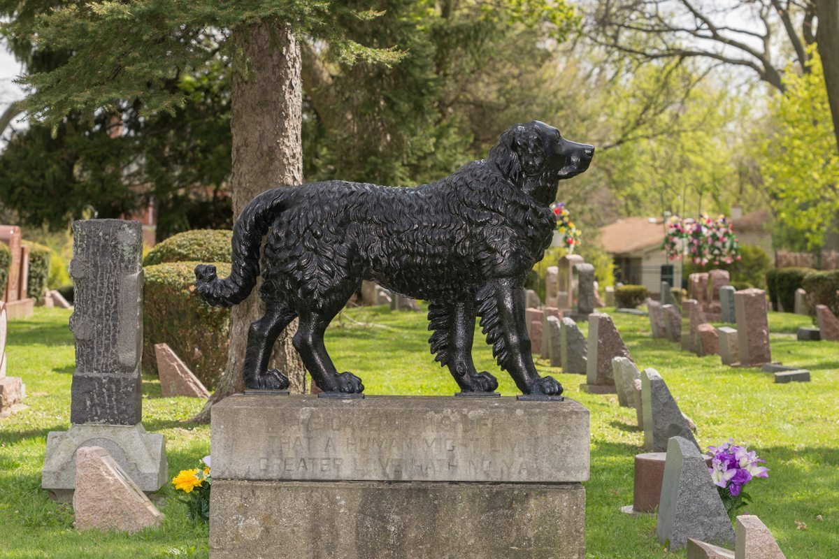 Hinsdale-Animal-Cemetery-Dog-Monument